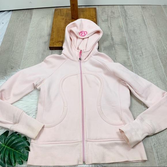 lululemon athletica Jackets & Blazers - Lululemon Pink Hooded Zip Front Scuba Jacket